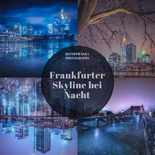 Frankfurt am Main – Skyline bei Nacht und Nebel