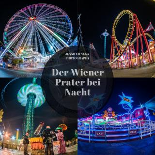 Wiener Prater bei Nacht