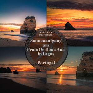 Sonnenaufgang am Praia De Dona Ana, Lagos / Portugal