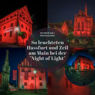 """So leuchteten Hassfurt und Zeil am Main bei der """"Night of Light"""""""