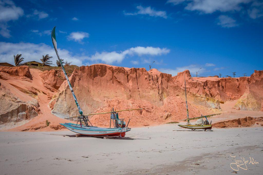 Der Strand von Canoa Quebrada