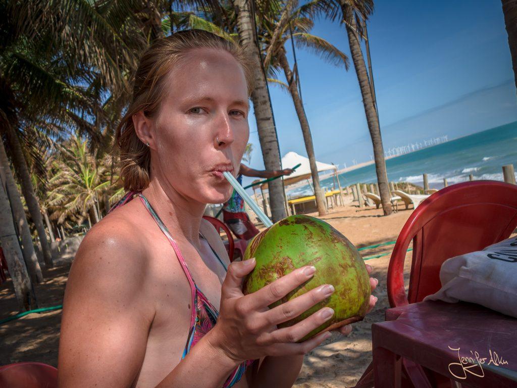 Natürlich gibt es auch hier leckere grüne Kokosnüsse zum Trinken...