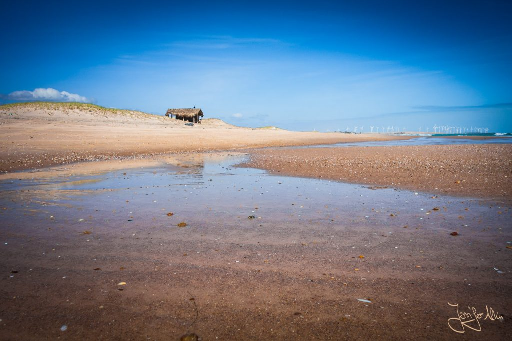 Schutzhütte am Strand in Richtung Praia do Sol