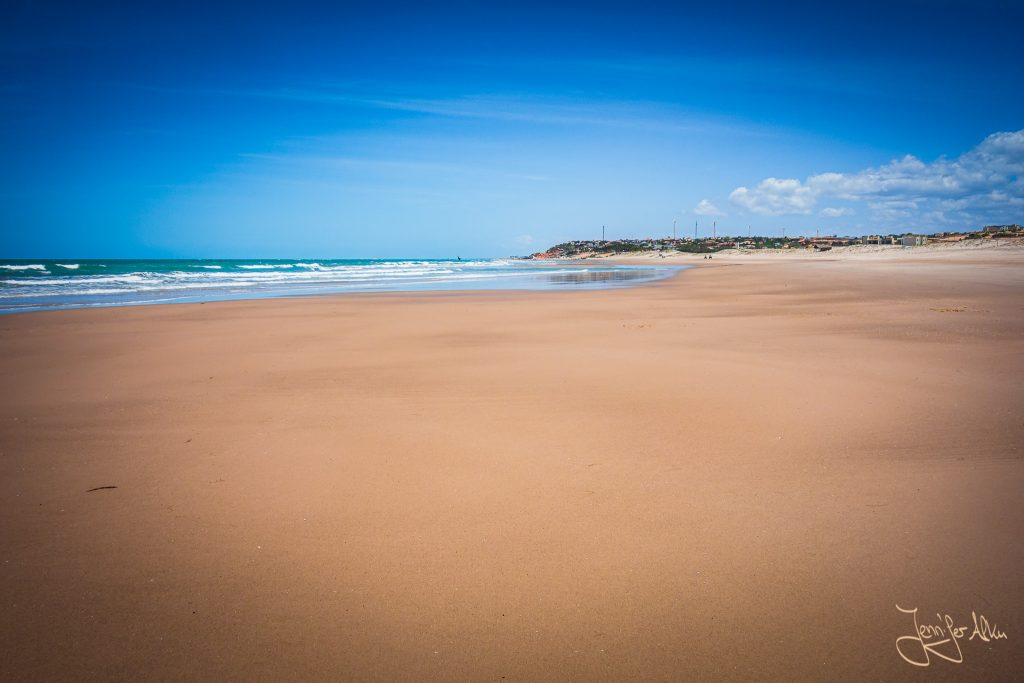 Der Strand in Richtung Praia do Sol